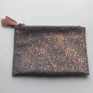 J.Crew Glitter Clutch /pouch